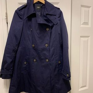 Navy Asos Trench Coat